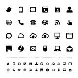 Retina communication icon set Royalty Free Stock Images