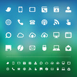 Retina communication icon set Stock Image