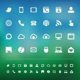 Retina communication icon set. Illustration eps10 Stock Image