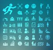 Retina de los iconos del recurso humano stock de ilustración