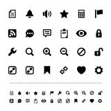 Retina interface icon set Royalty Free Stock Photo