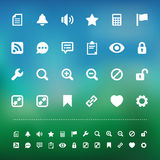 Retina interface icon set Stock Photo