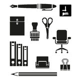 Retina Office Tools Icon Set Stock Images