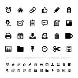 Retina office tools icon set. Illustration eps10 Royalty Free Stock Photo