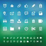 Retina office tools icon set Royalty Free Stock Photography