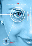 Retina scan. Concept image of retina scan of beautiful girl Royalty Free Stock Photography