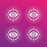 Retina scan vector icons. Eps 10 file, easy to edit vector illustration