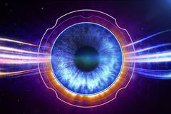 Retina Scanner. Abstract conceptual illustration vector illustration