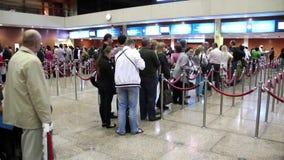 Retina scanning and passport control in Dubai international airport