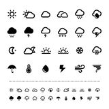 Retina weather icon set Royalty Free Stock Photography