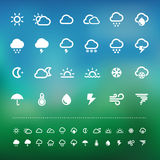 Retina weather icon set Royalty Free Stock Photos