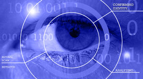 Retinal scan and biometric security. Royalty Free Stock Photography
