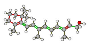 Retinol molecular model Royalty Free Stock Photography