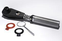 Retinoscope, перекрестные цилиндры и офтальмические объективы стоковые изображения rf