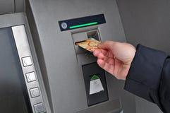 Retirada ATM do dinheiro Foto de Stock Royalty Free