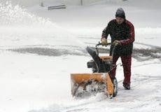 Retirada de la nieve Fotos de archivo libres de regalías