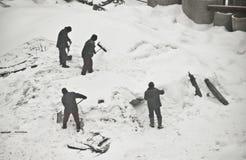 Retirada de la nieve Foto de archivo libre de regalías