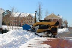 Retirada de la nieve Imagen de archivo libre de regalías