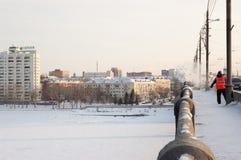 Retirada de la nieve Fotografía de archivo