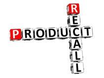 retirada do produto do mercado das palavras cruzadas 3D no fundo branco Fotografia de Stock Royalty Free