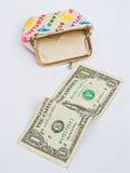 Retirada; meu último dólar. Imagem de Stock Royalty Free