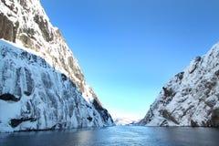 Retirando Trollfjord fotografia de stock royalty free