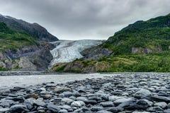 Retire a geleira em Seward no Estados Unidos da América de Alaska Fotografia de Stock