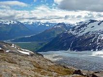 Retire a geleira Kenai Alaska Imagens de Stock Royalty Free