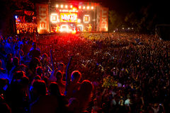 RETIRE O FESTIVAL de MÚSICA - David Gueta no palco principal fotografia de stock royalty free