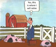 Retire to farm Royalty Free Stock Images