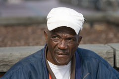 Retired African American Man. Portrait of retired African American man outside during the daytime Royalty Free Stock Image