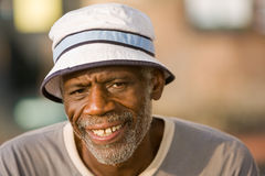 Retired African American Man Smiling Royalty Free Stock Photos