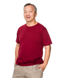 Retired asian man Stock Photo