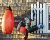 Retired boat buoys Royalty Free Stock Images