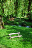 Retired calm place over the willow Stock Images