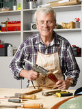 Retired carpenter Stock Image