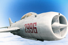 Retired Chinese Air Force MG fighter Stock Photos