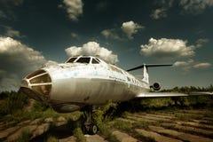 Retired civil airplane Stock Image