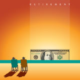 A retired couple on the beach with enough money Royalty Free Stock Photography