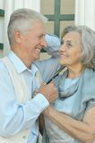 Retired couple in love Stock Photography