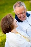 Retired couple outdoors Royalty Free Stock Photo