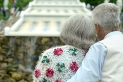 Retired couple outdoors Royalty Free Stock Photography