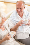 Retired couple spending time together. Photo of happy retired couple spending time together Stock Image