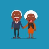 Retired elderly senior age couple. Royalty Free Stock Photography