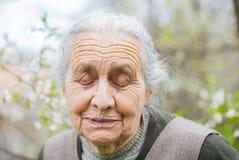 Retired elderly woman Stock Photography
