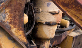 Retired equipment. The modern composition of this shot makes the old rusted equipment relevant once more Stock Images