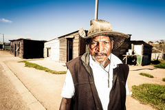 Retired farmer at his home Royalty Free Stock Images