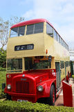 Retired historic red bus in Hong Kong Stock Image