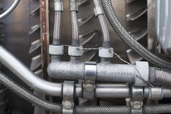 Retired jet engine Stock Images