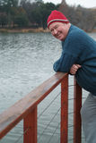Retired at lake Royalty Free Stock Image